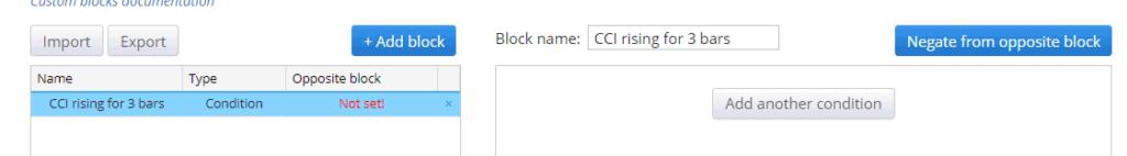 SQ Custom block added