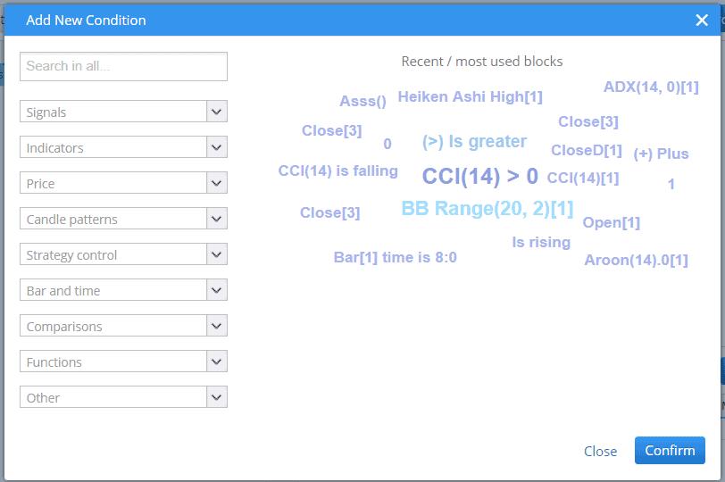 Custom block add condition