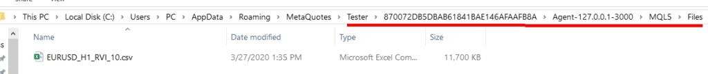 MT5 Tester Folder