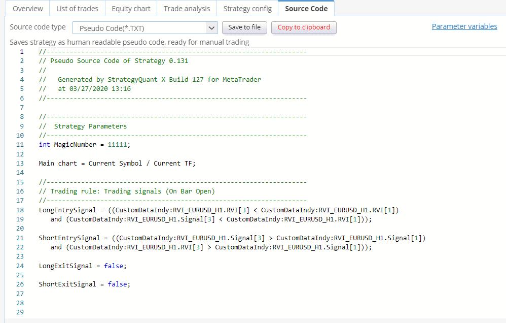 SQ custom data indicator pseudo code