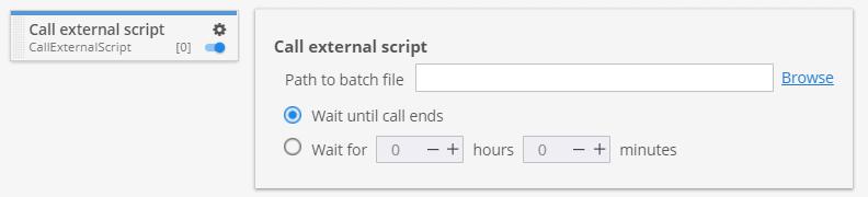 Call external script custom project task