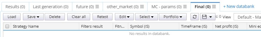 Custom projetc multiple databanks