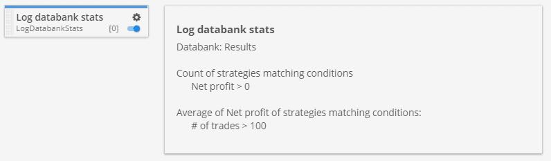 Log databank stats custom project task
