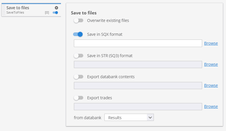 Save to files custom project task
