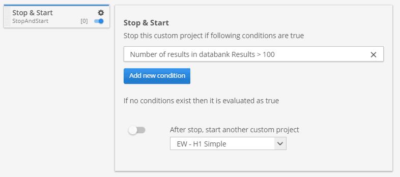 Stop & Start custom project task